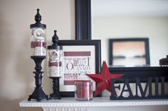 Apothecary Jars - O Canada Canada Day decor! Canada North, Canada Day, I Am Canadian, Apothecary Jars, Canada Travel, Inspiration, Country, Summer, Projects