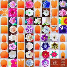 Create your own paper flowers using CBM templates. This listing is for hard copy paper flower templates which are made out of cardstock paper and are ready to use. The listing price is for ONE t (Diy Paper Flowers) Create your own paper flowers using CBM Tissue Paper Flowers, Paper Flower Backdrop, Felt Flowers, Diy Flowers, Fabric Flowers, Flower Decorations, Flower Petals, Wedding Flowers, Diy Paper