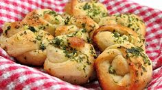 Whenever we go to a  pizzeria, my kids go crazy over the garlic knots. Now I can make them at home in minutes with refrigerated breadsticks.