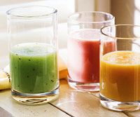 Honeydew- Kiwifruit Smoothie (110 calories) and other healthy smoothies.