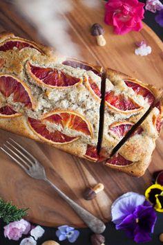 Dried Rose Petals, Loaf Cake, Orange Roses, Orange Recipes, Cake Flavors, Orange Slices, Strudel, Blood Orange, Sweet Bread