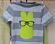 Easter shirt - Peep Easter - nerd bunny shirt - bunny shirt. $24.00, via Etsy.