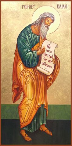 The Prophet Isaiah Religious Icons, Religious Art, Prophet Isaiah, Bible Pictures, Biblical Art, Byzantine Icons, Catholic Saints, Orthodox Icons, I Icon