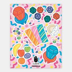 90's Candy Sticker Sheet | HUMAN