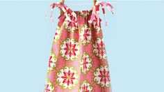 How to sew a summer dress...This dress is easy to make, lovely to wear, and grows with your little one.