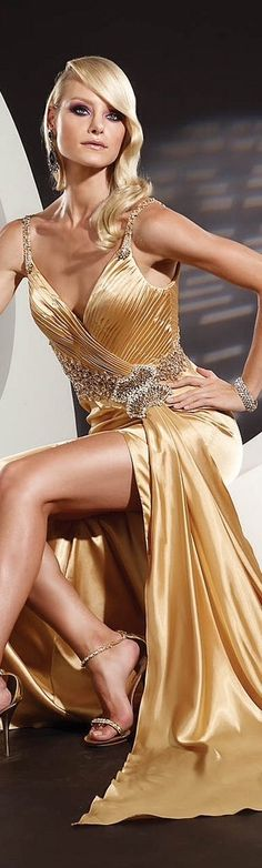 #blueandgoldpromspirit gold.quenalbertini: Gold Dress | Evelina