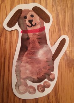 Footprint dog animal crafts for kids, dog crafts, daycare crafts, baby craf Daycare Crafts, Dog Crafts, Baby Crafts, Daycare Rooms, Toddler Art, Toddler Crafts, Animal Crafts For Kids, Art For Kids, Infant Activities