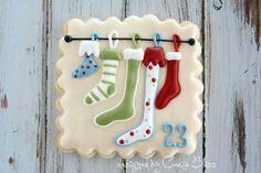 Christmas countdown cookies