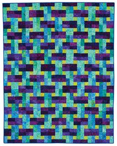 """Mirrored Mountains"" from SuperStrata Quilts"