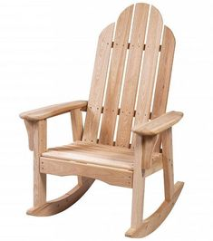 These Adirondack chair plans will help you build an outdoor furniture set that becomes the centerpiece of your backyard . It's a good thing that so many plastic patio chairs are designed to stack, and the aluminum ones fold up flat. Rustic Outdoor Rocking Chairs, Teak Adirondack Chairs, Adirondack Rocking Chair, Rocking Chair Plans, Wooden Rocking Chairs, Patio Rocking Chairs, Porch Chairs, Bar Chairs, Plastic Patio Chairs