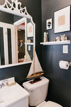 6 Places to Add Shelving for More Storage in a Small Bathroom |  there are so many things you need to fit into so little square footage. Here, as in the rest of the house, wall-mounted shelves can be a real lifesaver. No matter the size of your bathroom, there's probably a spot where you can squeeze in a shelf or two.