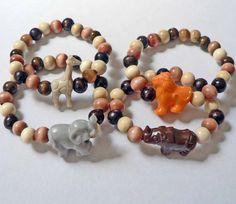 Little Boys Safari Party Favor Bracelets by stargazinglily on Etsy