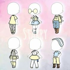 🌹 🌹 Source by yunachanlight life outfits girls Pajama Outfits, Tomboy Outfits, Club Outfits, Girl Outfits, Types Of Drawing Styles, Anime Drawing Styles, Clothing Sketches, Cute Anime Chibi, Fashion Design Drawings