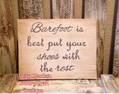 Items similar to Remove your shoes sign barefoot is best sign on Etsy