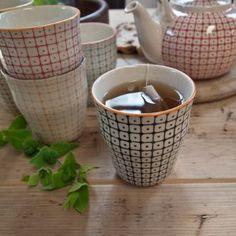 Scandinavian Hand Printed Tea Cups (Set of 6) - Uniche Interior Furnishings