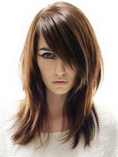 Straight, Long Hairstyle for Big & Round Faces