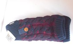 Muk Luks women 2 tone cable knit long arm warmers one size  navy/wine #mukluks #EverydayGloves