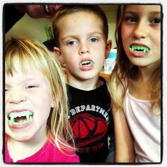 Vampire kids #vampire_teeth #kids_party