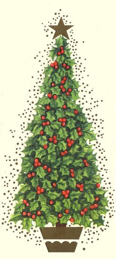 Holly berry Christmas tree
