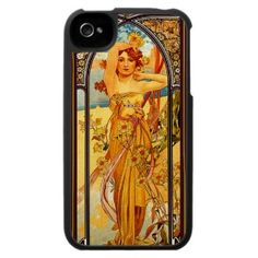 Alphonse Mucha ~ Radiance Day ~ Vintage Art Iphone 4 Covers