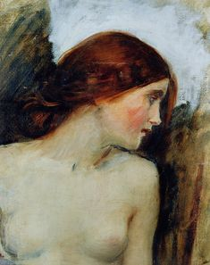 John William Waterhouse    Study for the Head of Echo, 1903    Oil on canvas