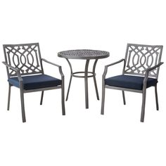 Harper 3pc Patio Bistro Furniture Set - Navy (Blue) - Threshold
