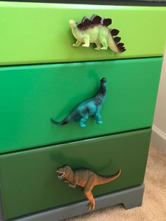Dino Dresser Makeover – With a Wink and a Smile – dressideas Dinosaur Kids Room, Boys Dinosaur Bedroom, Dinosaur Room Decor, Dinosaur Nursery, Kids Bedroom, Baby Boy Room Decor, Baby Boy Rooms, Decoration, Smile