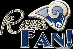 St. Louis Rams fan badge thing. I think it's cool