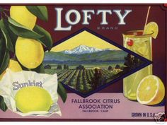 Vintage lemon crate label