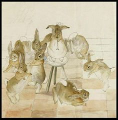 Beatrix Potter- 'The Rabbits' Christmas Party' - 1892, Dancing to a Piper ♫