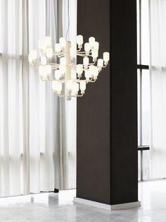 Normann Copenhagen Amp chandelier, large, white White P, Large White, Stunning Eyes, Pendant Lamp, Copenhagen, Different Colors, Chandelier, Dining Table, Lighting
