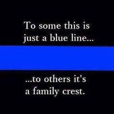 Blue Line Family Crest. Police Lives Matter