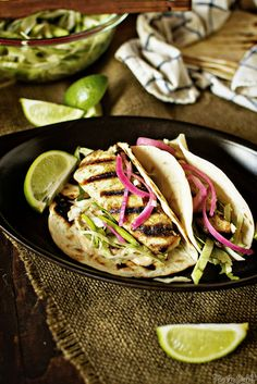 Baja Grilled Fish Taco