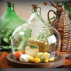 Cut the bottom off an old jug and use for many things!