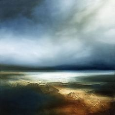 Semi Abstract Seascape inspired by the West Coast of the UK. by paul bennet wish he did prints Abstract Pictures, Landscape Pictures, Landscape Art, Landscape Paintings, Art Uk, Art For Art Sake, Seascape Paintings, Large Art, Belle Photo