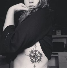 compass tattoo #ink #youqueen #girly #tattoos #compass @youqueen