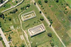 Veduta aerea della Basilica e del Tempio di Nettuno