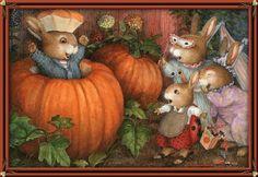 Bunnies & Pumpkins easter rabbit gif basket bunny eggs happy easter