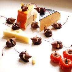 Ratoncitos de chocolate y cerezas