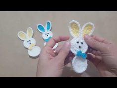 Figür Tavşan Yapımı - YouTube Crochet Flower Patterns, Crochet Blanket Patterns, Crochet Motif, Baby Knitting Patterns, Crochet Designs, Crochet Flowers, Crochet Stitches, Crochet Bebe, Crochet Baby Shoes