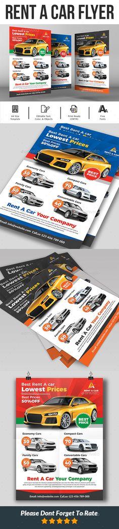 Rent a Car Flyer. Customizable business flyer template. #AttractiveAuto #AutoRepair #AutoShowroom #AutoSpare #AutoTransport #automobile #BusinessCard #CarRental #corporate #LuxuryCar #motorcycle #print #PrintReady #promotion #psd #RentACar #SportCar #taxi #template Psd, Business Flyer Templates, Taxi, The Help, Find Image, Promotion, Automobile, Car, Autos