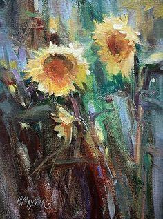 """Sun Day Mary Maxam Oil ~ 8 x 6 """""""