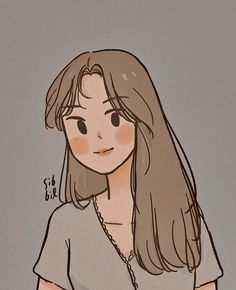 Cute Cartoon Drawings, Cartoon Girl Drawing, Cartoon Art Styles, Kawaii Drawings, Girl Cartoon, Cute Cartoon Wallpapers, Animes Wallpapers, Arte Indie, Arte Sketchbook