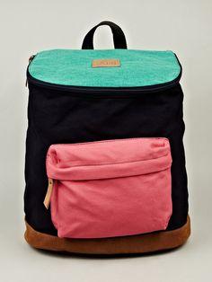 Veja Mochila Canvas Backpack in multi-colour. at oki-ni. Interesting opening.
