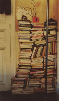 Since I'm running out of room for my books this may be just be the option! No shelves? No problem! Just stack 'em up. #books