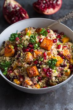 Roasted Butternut Squash Quinoa Salad is naturally gluten free and vegetarian. Everyone will love this!