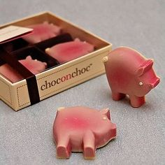 Chocolate Pigs by Choc on Choc, the perfect gift for Explore more unique gifts in our curated marketplace. This Little Piggy, Little Pigs, Christmas Present List, Pig Pen, Piggly Wiggly, Miss Piggy, Baby Pigs, Pig Party, Belgian Chocolate