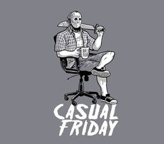 Casual Friday the 13th Jason Voorhees T-Shirt #Jason #Friday #casual