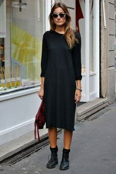 street style, fashion, style, all black, inspiration, some girls