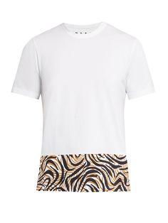 Animal-printed panel cotton T-shirt  | Marni | MATCHESFASHION.COM